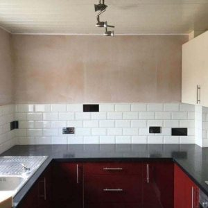 Gloss Red Kitchen Installation