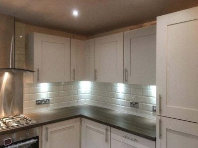 Large Kitchen Installation With Undercounter Lighting