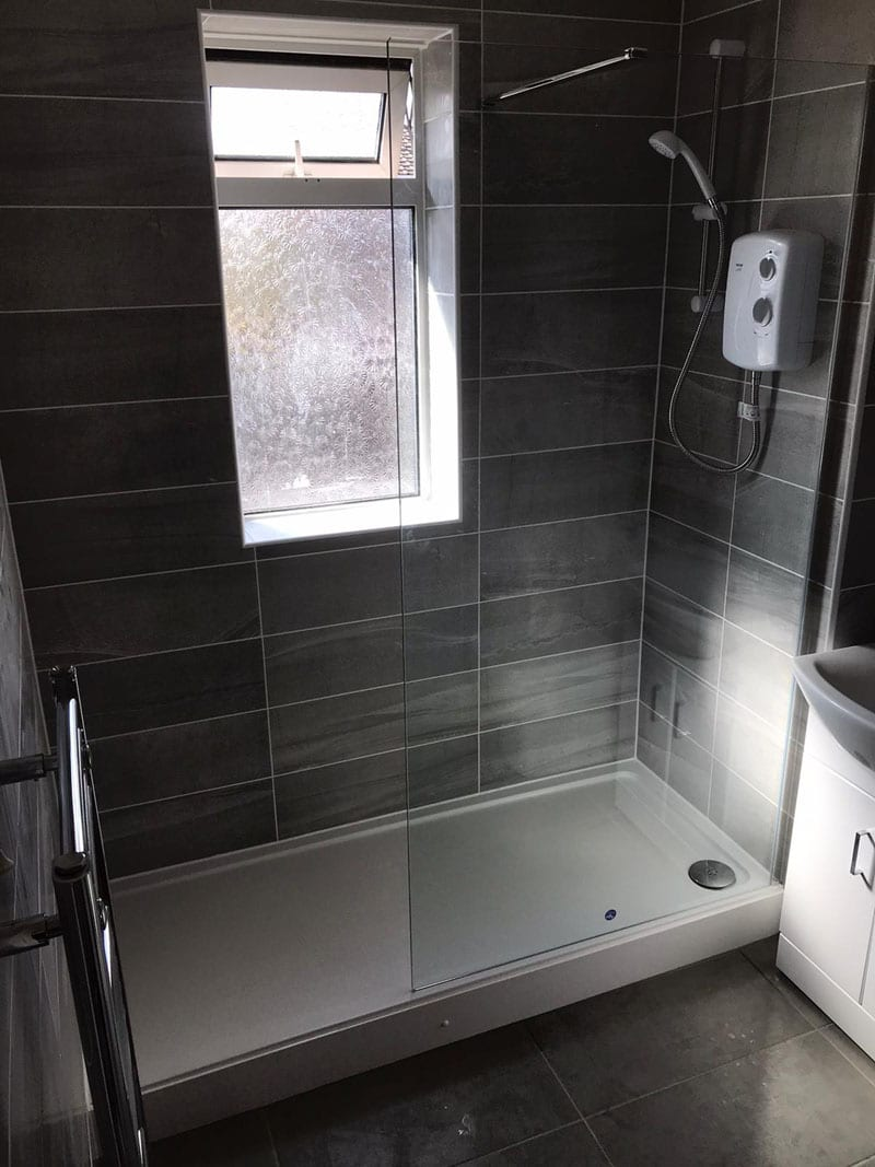 Mr and Mrs McPherson's bathroom installation, Langley Mill