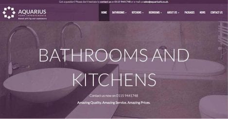 Take a Look at Aquarius Home Improvements' New and Improved Website