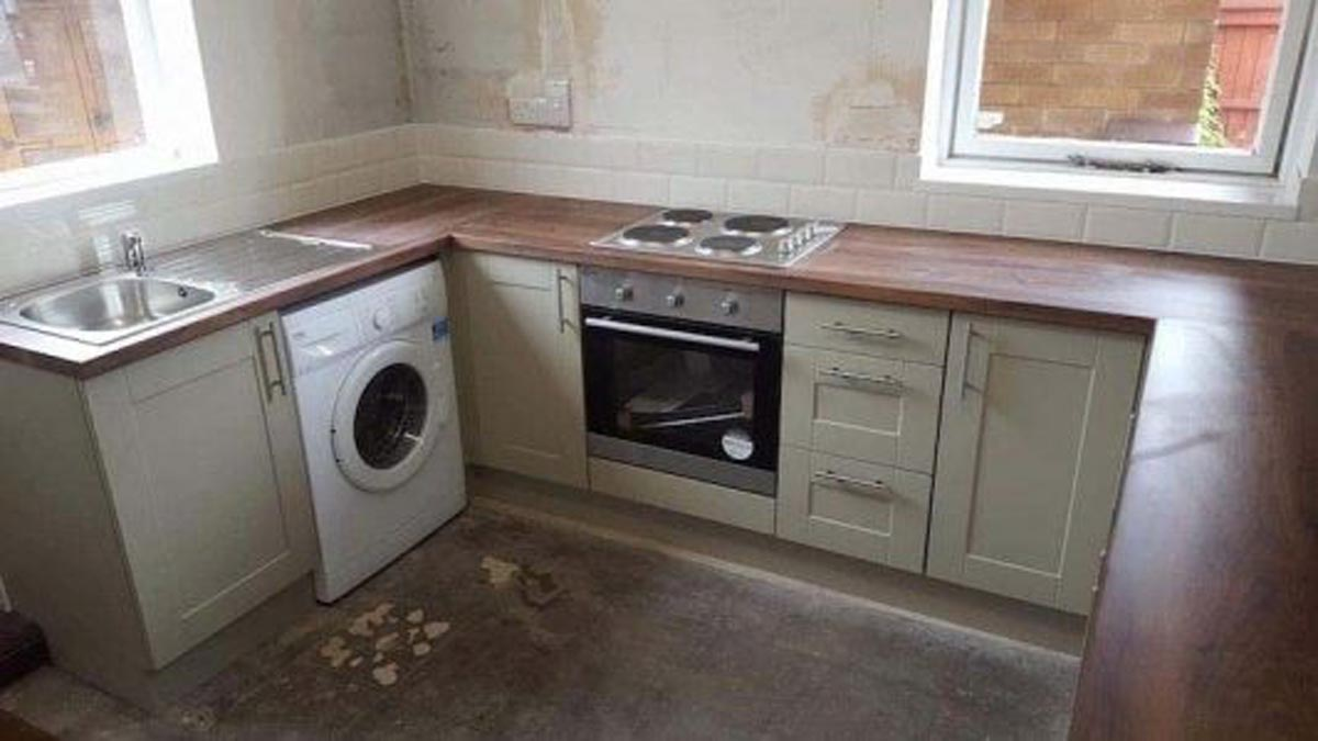 Mr and Mrs Hicklings Kitchen Installation Sawley