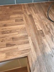 Mrs Terry's Kitchen Installation With Laminate Flooring