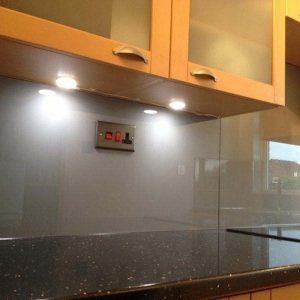 Kitchen with Glass Splashbacks